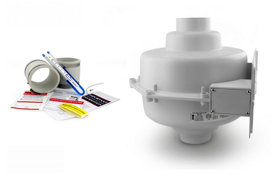 Radon Fan Replacement using fan by-pass drain for radon fan repair